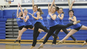 A STEP IN TIME:  Pearl River Central High School Blue Angels practice their jazz routine that won them first place at the MHSAA state championship.  Photo by Alexandra Hedrick
