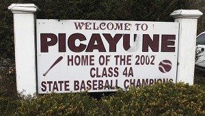 CHAMPIONSHIP SIGN: This is one of the signs the Picayune school board was discussing at Tuesday's meeting. Members suggested during discussions that the school district explore placing signs at both entrances to the city of the Interstate displaying all the championships the school wins. Photo by Will Sullivan