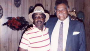 Fond memories: From left are Fortenberry and Coach Henley. Submitted | Picayune Item