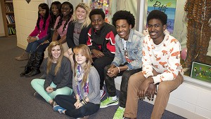 Class act: Students of marketing class are shown from left: Seated— Sydney Varnado and Claudia Hampton. Back row: Iyonna Jones, Shakyna Lull, Arianna Malley, Kimi Herring, De-Jon Stallings, KiAndre McMillian and Chuann Davidson. Jodi Marze | Picayune Item