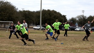 Jodi Marze | Picayune Item FUNDRAISER: Several different organizations came together over the weekend for a benefit flag football tournament to raise funds for the Picayune Memorial High School football team to buy state title rings.