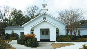 Pretty windows: This church on Liberty Road in Pearl River County, built in the 1920's, features beautiful stained glass windows. Jodi Marze | Picayune Item
