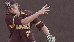 MAKING A PLAY: Pearl River shortstop Zach O'Hern fires to first for an out in recent action on the diamond for the Wildcats. PRCC hosts top-ranked Jones County today. Mitch Deaver | PRCC