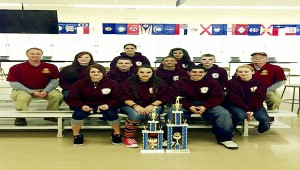 Straight shooters:  The Picayune Memorial High School Navy JROTC earns high ranking at national competition. Shown first row from left are: Danielle Bear, Ashlyn Spiers, Alex Cruz, Kayla Phillips. Shown second row from left are: Lt. Cdr. Steve Hardin, Reagan Dedman, Chris Larson, Jacob Richey, Tyler Stockstill, Chief Mark Thorman. Shown on third row from left are: Katelyn Anderson and Pattie Aldana. Submitted