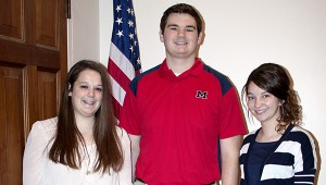 DAR Excellence: Winners of the 2013-2014 Good Citizen Award from the DAR are shown above. From left are Poplarville High School senior, Hannah Miller; Pearl River Central High School senior, Jonathan Tyler Fail and Picayune Memorial High School senior, Hannah Gravley. Jodi Marze | Picayune Item
