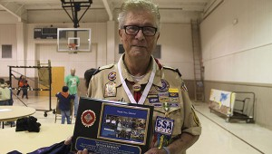 Years of dedication: Dennis Redman was awarded a plaque of appreciation for his 65 years of dedication to the Boy Scouts of America and Troop 2 in Picayune.  Jodi Marze | Picayune Item
