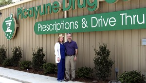 From left, Brenda and Andrew Failla stand in front of their second location in Picayune. Their newest pharmacy is located at 3310 Highway 11 North. Jodi Marze | Picayune Item