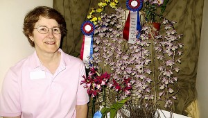 Submitted blue ribbon: Aunt Alma was a blue ribbon winner for master gardener Joy Lorenz at this year's Gulf Coast Orchid Society Show.  The plant also earned the Best in Class award and Best Oncidium Alliance trophy.