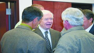 Senator Thad Cochran visited Picayune's city hall Monday afternoon to announce he is running for a seventh term in the U.S. Senate.