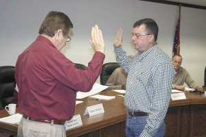 Frank Ford was sworn in as a new member of the Picayune Separate Municipal School board.