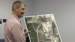 PROGRESS: Pearl River County Engineer Les Dungan speaks to the Board of Supervisors Monday about permits for the Richardson-Ozona Road realignment project.  Photo by Alexandra Hedrick